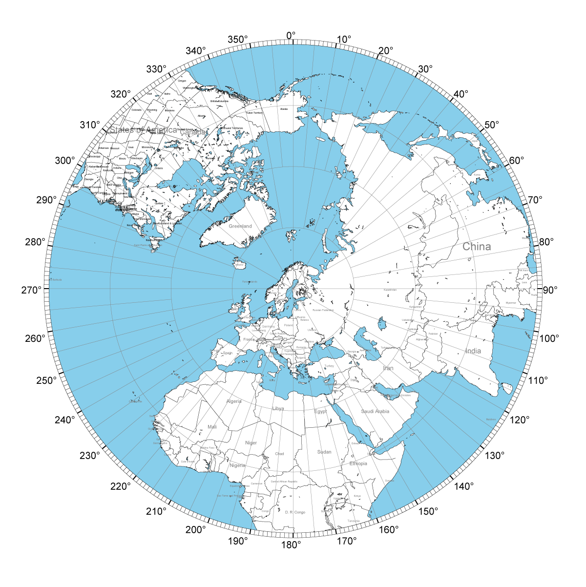 Using an Azimuth Map to Determine Antenna Direction — Foxtrot Lima