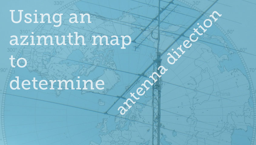 Using an Azimuth Map to Determine Antenna Direction